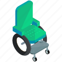 chair, health, healthcare, medical, wheel, wheelchair icon