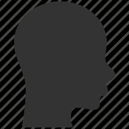 account, admin, customer, head profile, man, person, user icon