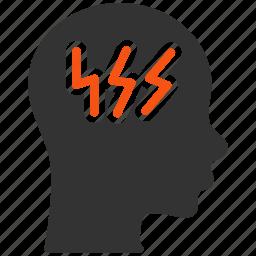 brain, bulb, lamp, mind, new idea, think, thinking icon