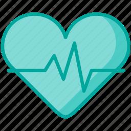 healthcare, heart, heartbeat, medical icon