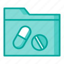 data, folder, medical, papers icon