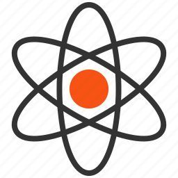 atom, atomic energy, innovation, nuclear power, physics, radiation, scientific icon