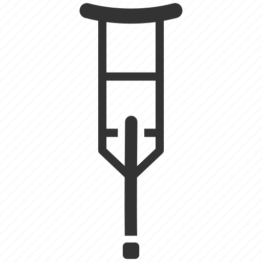 crutch, disabled, footing, injury, spike, support, wheelchair icon
