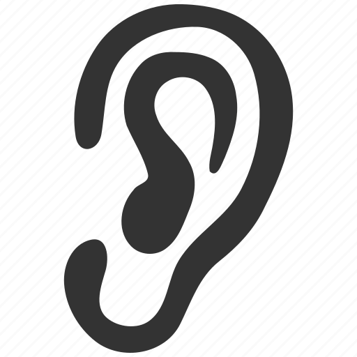 audio, ear, hear, hearing, listen, sound, voice icon