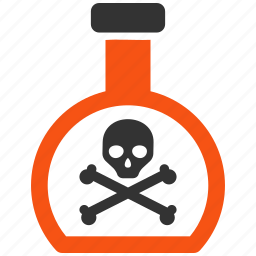 chemical, danger, poison, safety, skull, toxic, warning icon