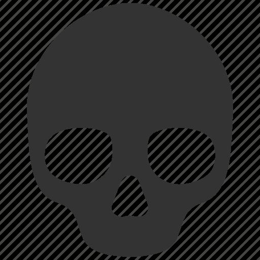 bones, dead, death, head, skeleton, skull, toxic icon