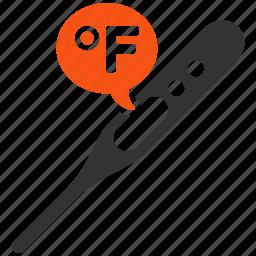 control, fahrenheit, heat, instrument, measure, temperature, thermometer icon