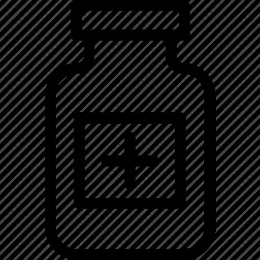 capsule, drugs, medicine jar, pills, tablet icon