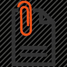 attach, attachement, attachment, connection, letter, message, paper clip icon
