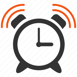 alarm clock, alert, bell, calendar, call, emergency, signal icon