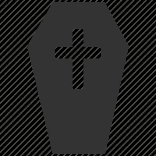 coffin, dead, death, evil, funeral, horror, rip icon