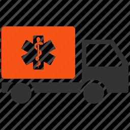 ambulance, delivery, emergency car, health, logistics, medical, medicine icon