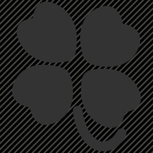 clover, flower, four, label, leaf, nature, plant icon