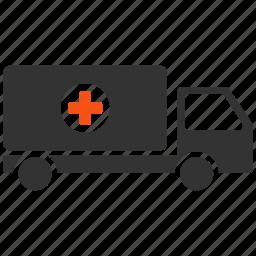 delivery, emergency, logistics, medical, medicine, transport, transportation icon