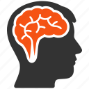 brain, head, idea, memory, mind, think, thinking icon