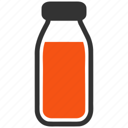bottle, drink, drinking, glass, milk, syrup, water icon