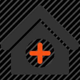ambulance, building, center, clinic, healthcare, hospital, house icon