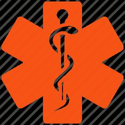 ambulance, doctor, emergency, health, hospital, life star, medical embleme icon