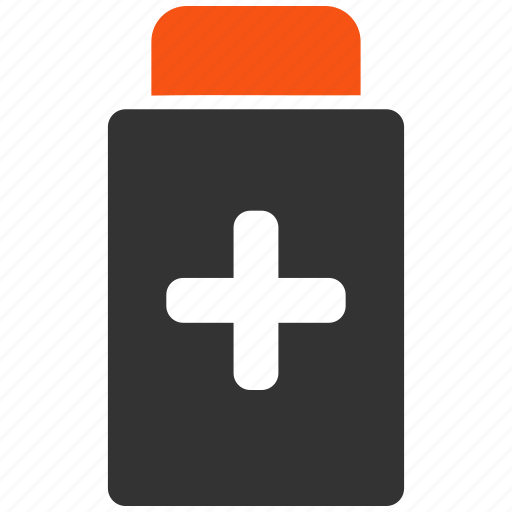 bottle, container, flask, medication, package, tube, vial icon