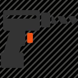 device, drill, gun, perforator, repair, tool, tools icon