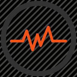cardio, cardiogram, chart, ecg, graph, pulse, signal icon