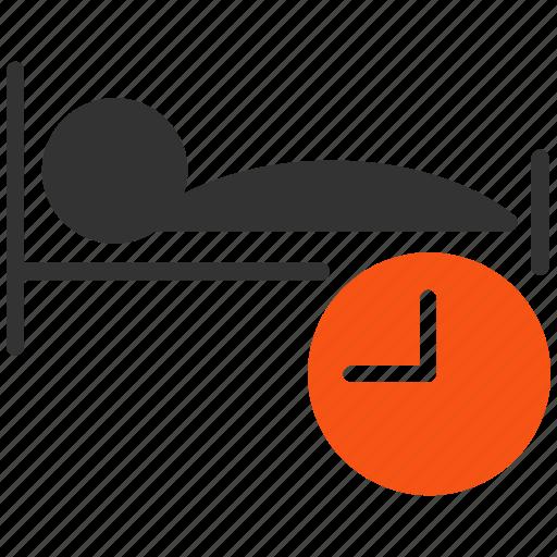 bed, clock, reminder, sleep, sleeping, time, timer icon