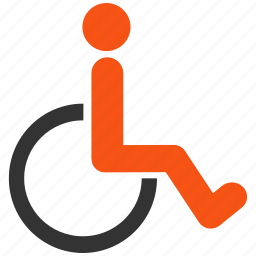 damaged, disable, disabled, handicap, invalid, patient, wheelchair icon
