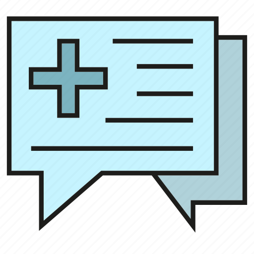 chat, communication, consulting, medical, speech bubble icon