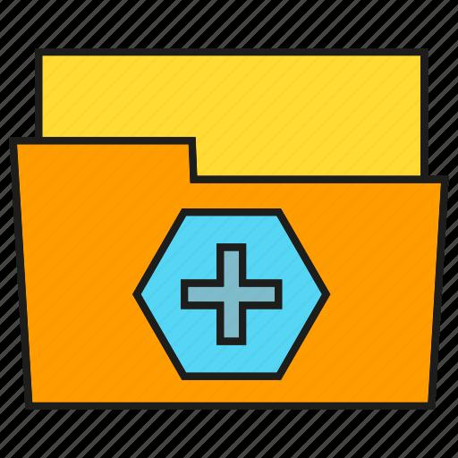 archive, folder, health care, medical file icon