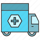 ambulance, car, crisis, emergency, emergency car, hospital, truck icon