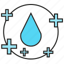 drop, fluid, liquid, medical, plus, positive, water icon