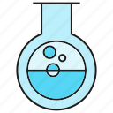 chemistry, flask, fluid, lab, liquid, science, tube icon