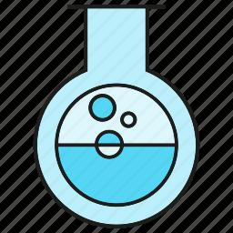 chemistry, flask, fluid, lab, liquid, science, tube icon