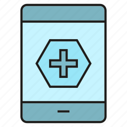 contact, health, medical, mobile, phone icon