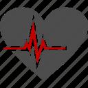 cardiogram, health, heart, medicine icon