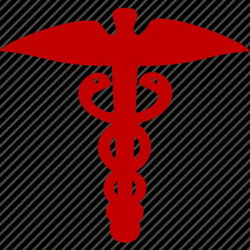 emblem, health, medicine, serpent icon