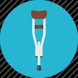 broken, crutch, crutches, madical icon