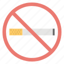 no cigarette, no smoking, prohibition, stop smoking, warning sign icon