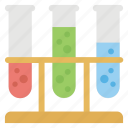 chemical flask, lab glassware, research, sample tube, test tube icon