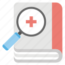 medical history, medical journal, medical research, research book, research methodology icon