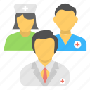 doctor, medical assistant, medical staff, nurse, nursing staff icon