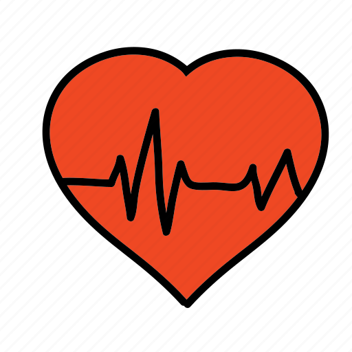 beat, heart, medical, monitor, rate, test icon