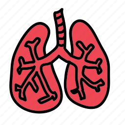 ache, health, heart, hospital, lungs, medical, pain icon