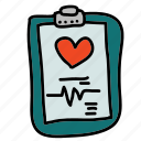 chart, doctor, health, hospital, medical, nurse, patient icon