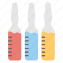vial, medical ampoule, injection, serum, vaccine icon