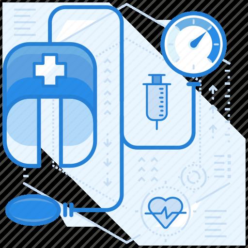 blood, measurement, pressure icon