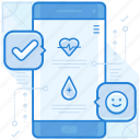 mobile, application, app, health icon