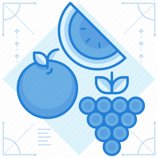foods, fruits, healthy icon