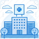 building, emergency, hospital icon