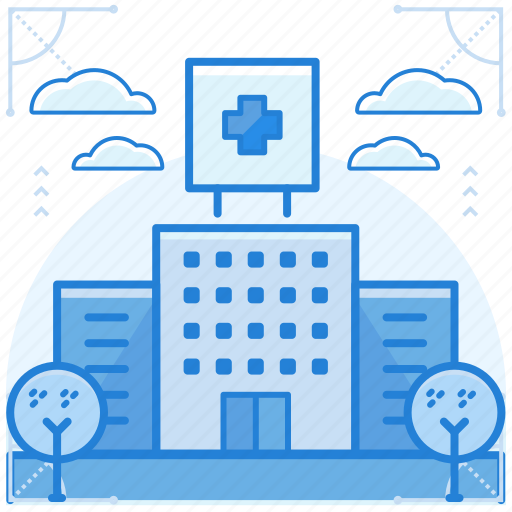 building, emergency, hospital icon
